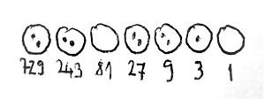 A 2019-es szám kavicsokkal jelölve