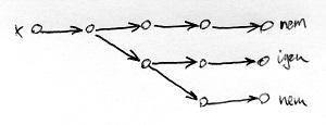 Nemdeterminisztikus Turing-gép számítási útvonalai