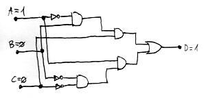 Kielégíthető logikai hálózat (példa)